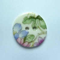 Chinese Blossom Medium Circular Button