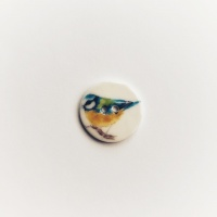 Blue tit smaller medium circle button