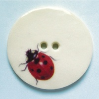 Ladybird Large Circular Button