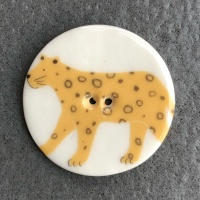 Leopard Large Circular Button