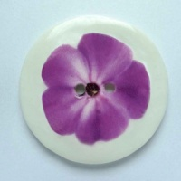 Purple Flower Large Circular Button