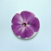 Purple Flower Medium Circular Button