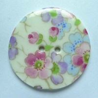 Soft Blossom Large Circular Button