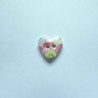 Soft Blossom Tiny Heart Button