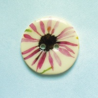 Summer Meadow Daisy Medium Circular Button