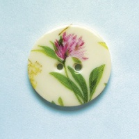 Summer Meadow Clover Medium Circular Button