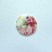 Summer Posy Small Circular Button