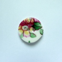 Spring Sprig Small Circular Button