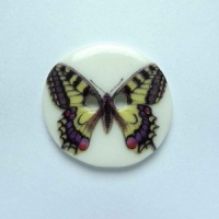 Swallowtail Medium Circular Button