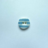 Turquoise Stripe Tiny Circular Button