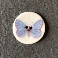 Soft Blue Butterfly Medium Circular