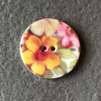 Cottage Garden Medium Circular Button