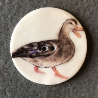 Female Duck Large Circular Button