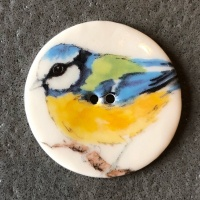 Giant Bluetit Large Circular Button