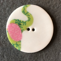 Elephant Green Large Circular Button