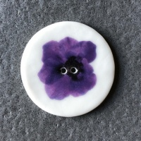 Indigo Flower Large Circular Button