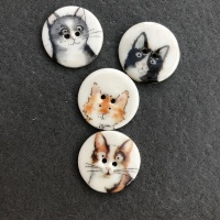 Assorted Cat Small Medium Buttons
