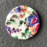 Spring Sprig Large Circular Button