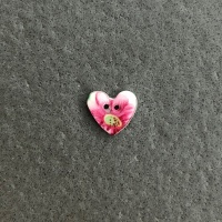 Spring Sprig Tiny Heart Button