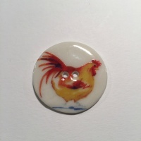Yellow Chicken Medium Circle Button